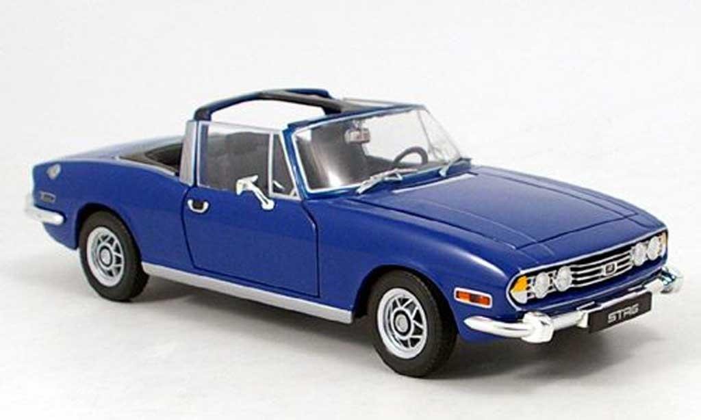 Triumph Stag 1/18 Revell bleu 1970 miniature