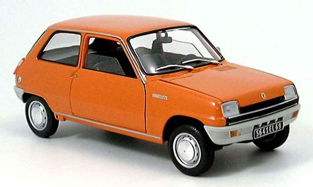 Renault 5 TL 1/18 Solido orange 1972 miniature