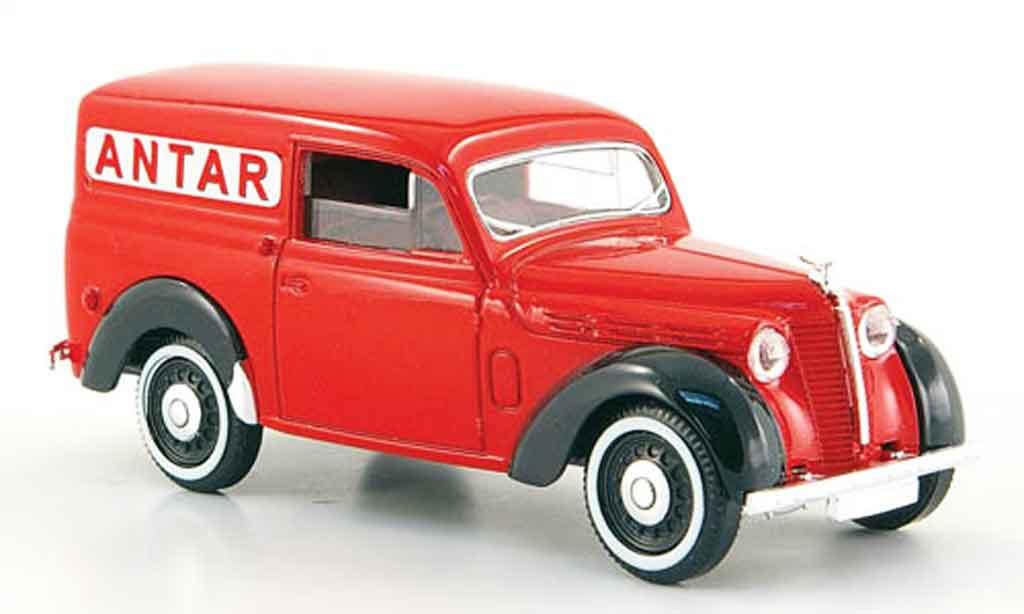 Renault Juvaquatre 1/43 Solido lieferwagen antar red 1952 diecast model cars