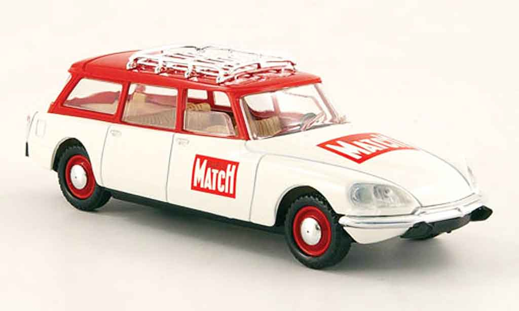 Citroen DS 1/43 Solido break paris match rouge blanche miniature