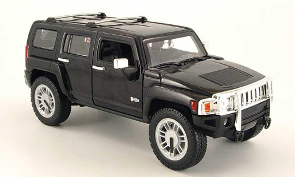 Hummer H3 1/18 Hot Wheels SUV noire