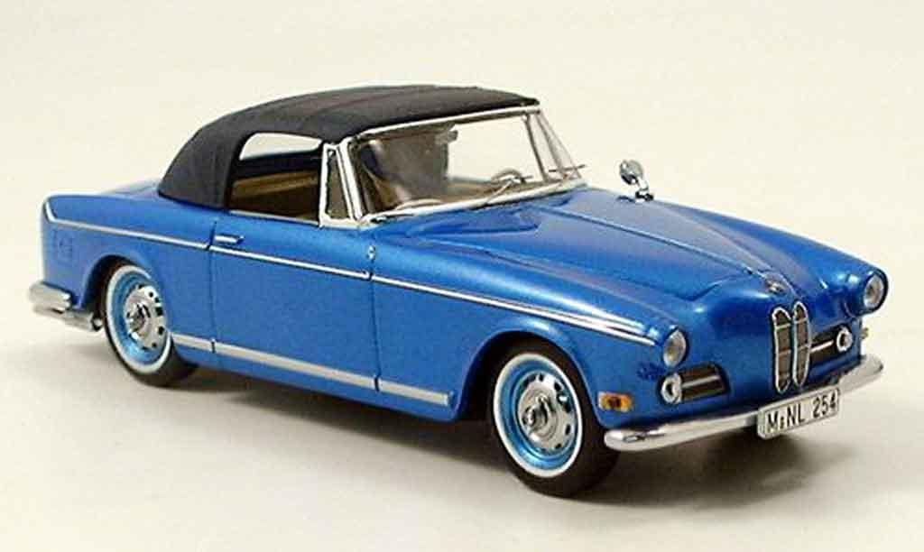 Bmw 503 1/43 Schuco Cabrio avec Softtop bleu diecast
