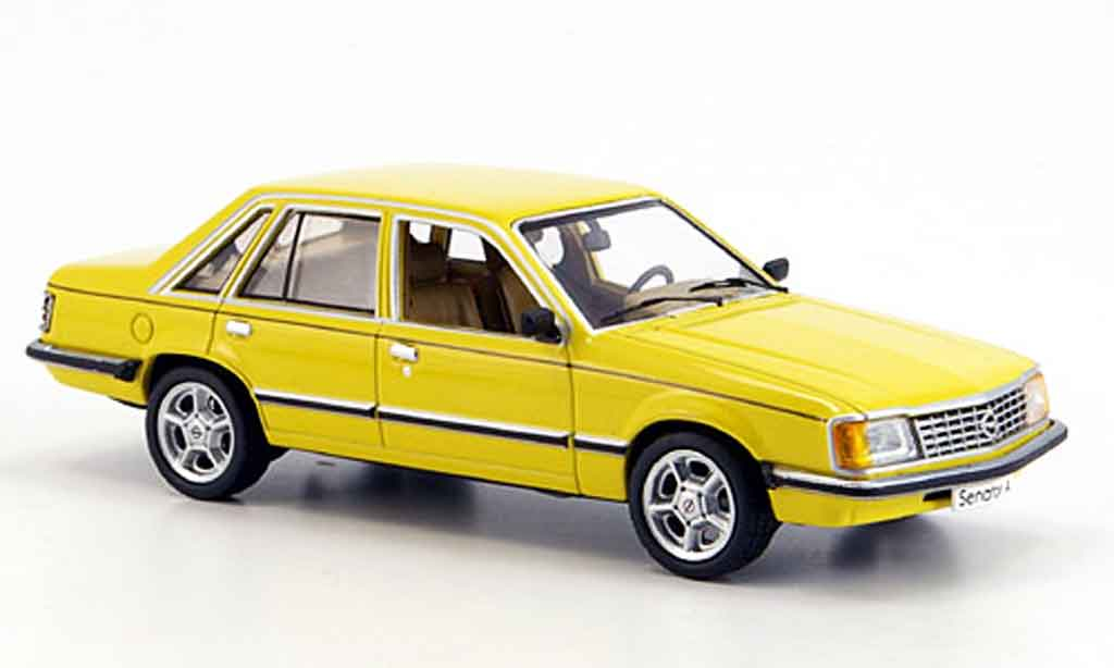 Opel Senator 1/43 Schuco a jaune miniature