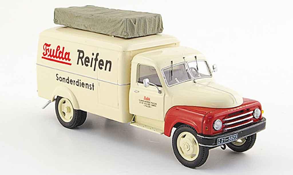 Hanomag L28 1/43 Schuco Kastenwagen Fulda Reifen miniature
