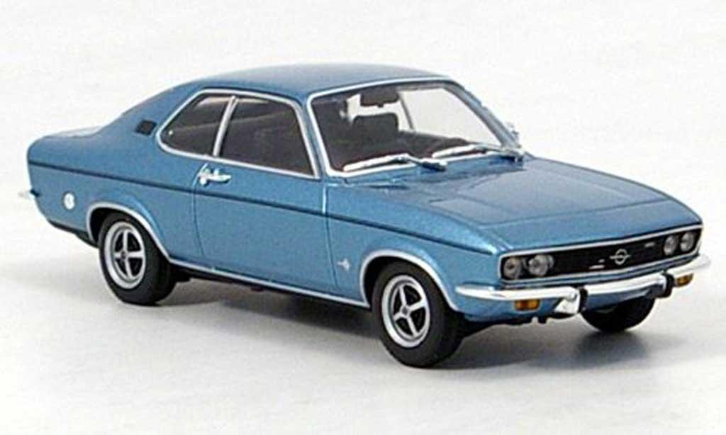 Opel Manta A 1/43 Minichamps bleu 1971 miniature