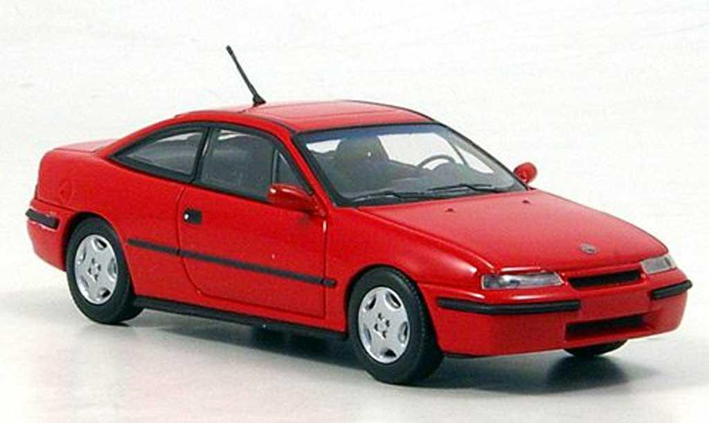 Opel Calibra 1/43 Minichamps rosso 1991 modellino in miniatura