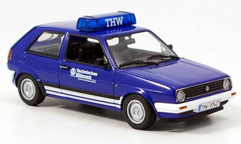 Volkswagen Golf 2 1/43 Minichamps thw bleu miniature