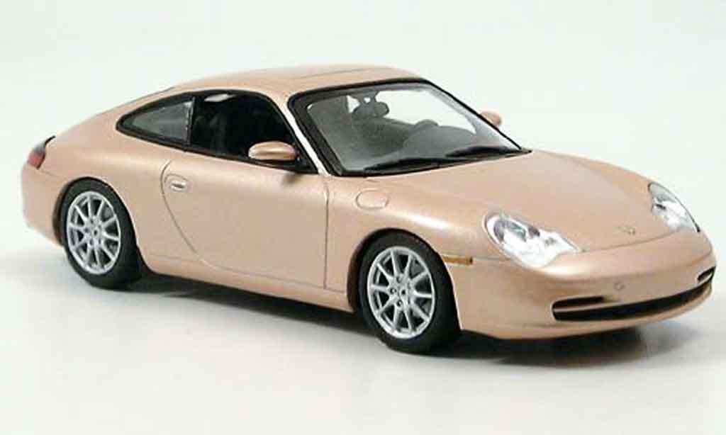 Porsche 996 Carrera 1/43 Minichamps gray metallisee beige 2001 diecast