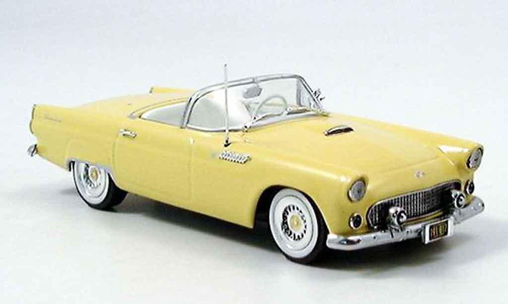 Ford Thunderbird 1955 1/43 Minichamps jaune miniature