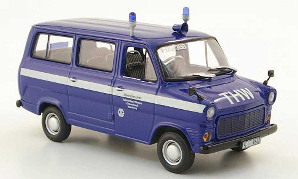 Ford Transit 1/43 Minichamps Bus THW Koln 1971 miniature