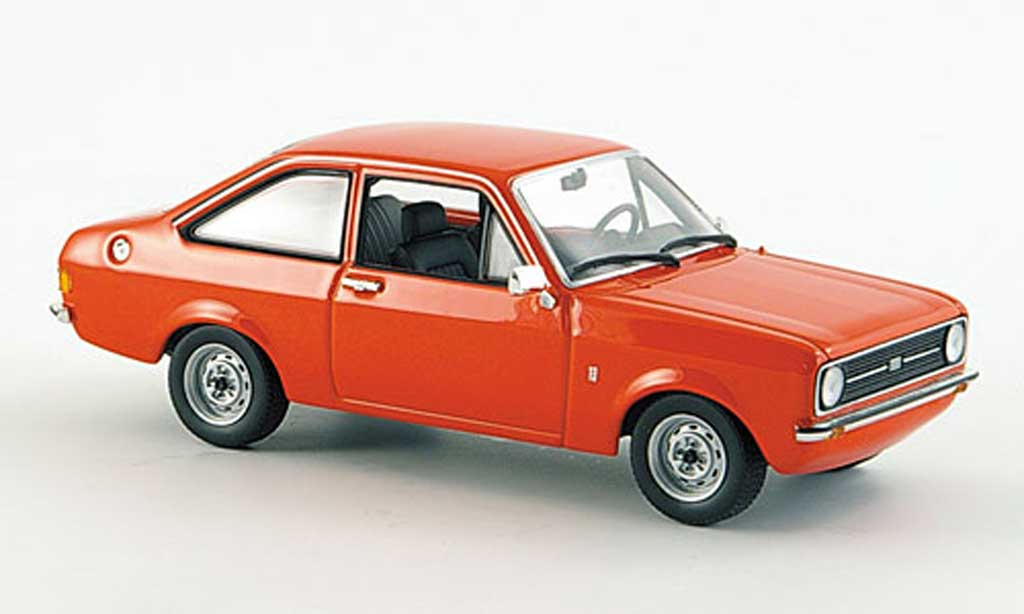 Ford Escort MK2 1/43 Minichamps II rouge 1975 miniature