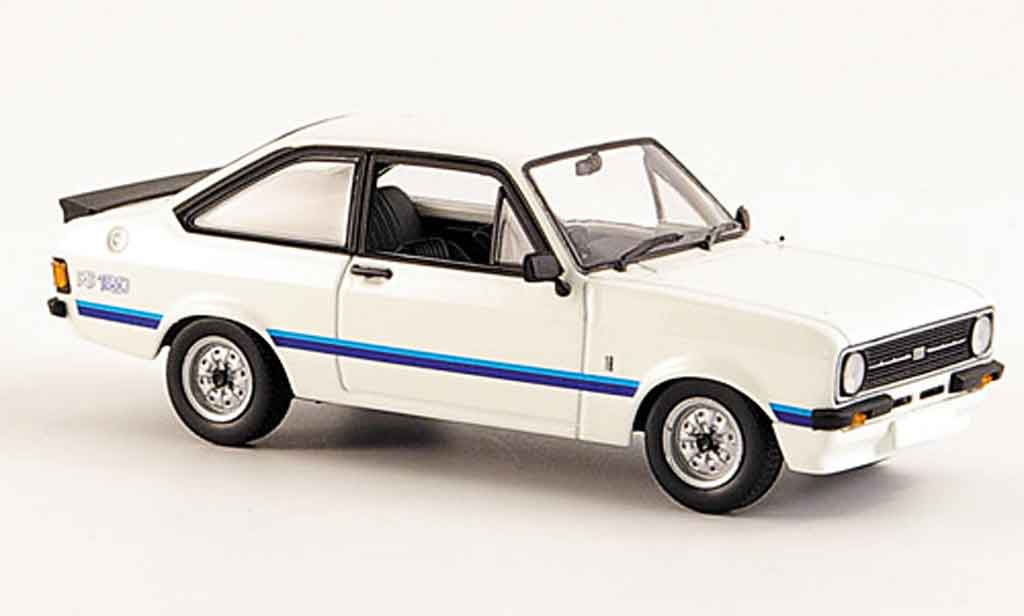 Ford Escort RS 1800 1/43 Minichamps blanche 1975 MK2 miniature