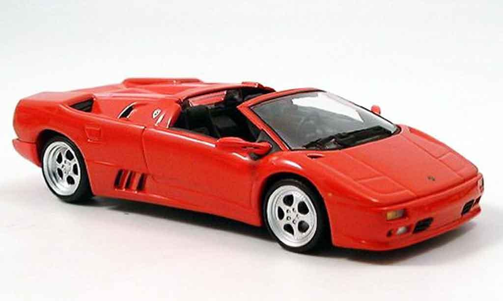 Lamborghini Diablo 1/43 Minichamps roadster red 1994 diecast model cars