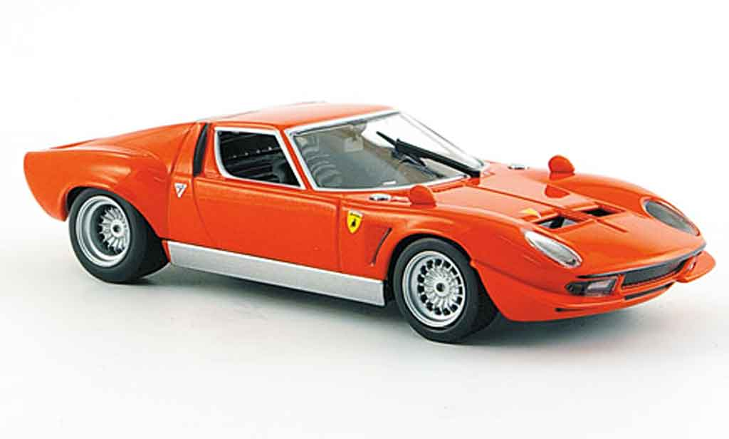 Lamborghini Miura Jota 1/43 Minichamps red 1970 diecast model cars