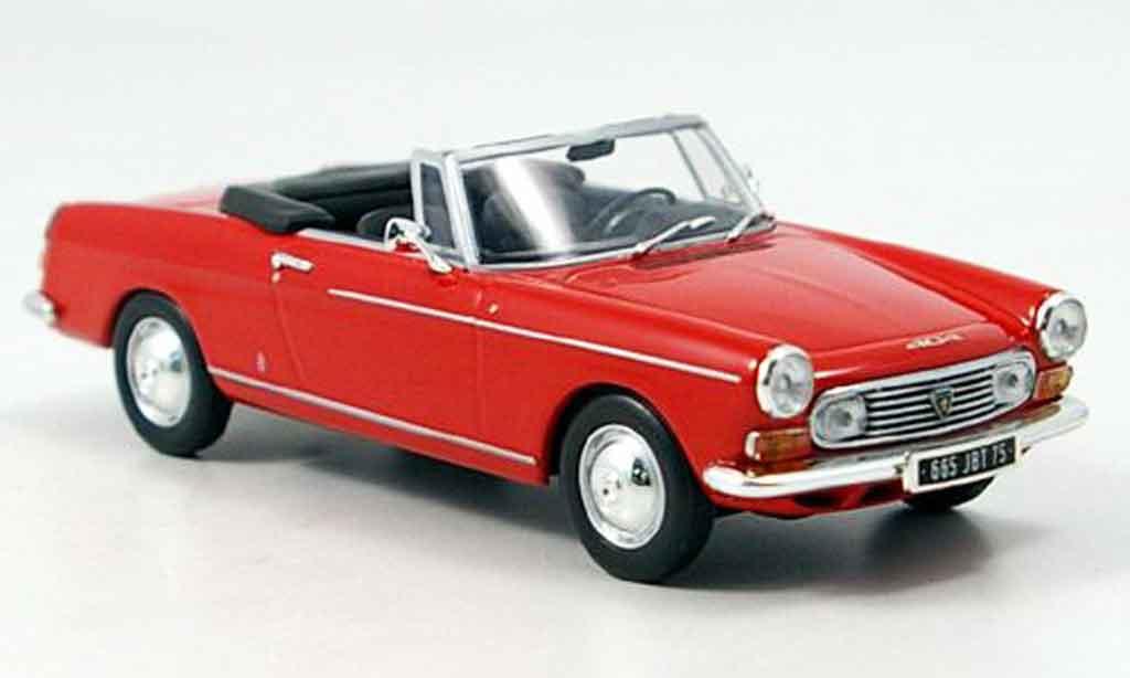 Peugeot 404 Cabriolet 1/43 Minichamps rouge 1962 miniature