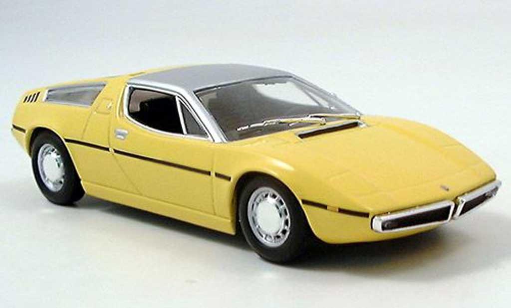 Maserati Bora 1/43 Minichamps jaune 1972 miniature