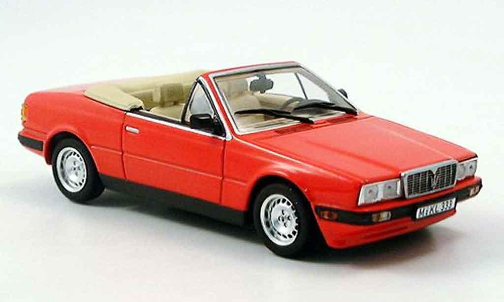 Maserati Biturbo 1/43 Minichamps spyder rouge 1986 miniature