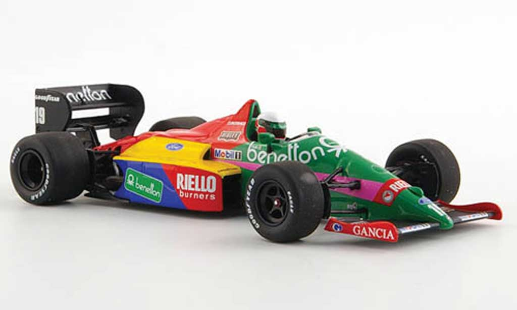 Ford F1 1987 1/43 Minichamps Benetton B187 No.19 T.Fabi -Saison miniature