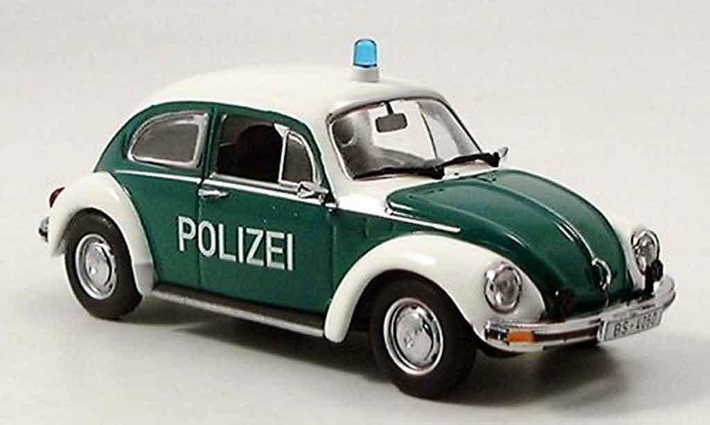 Volkswagen Coccinelle 1/43 Minichamps 1303 police marronschweig 1972 diecast