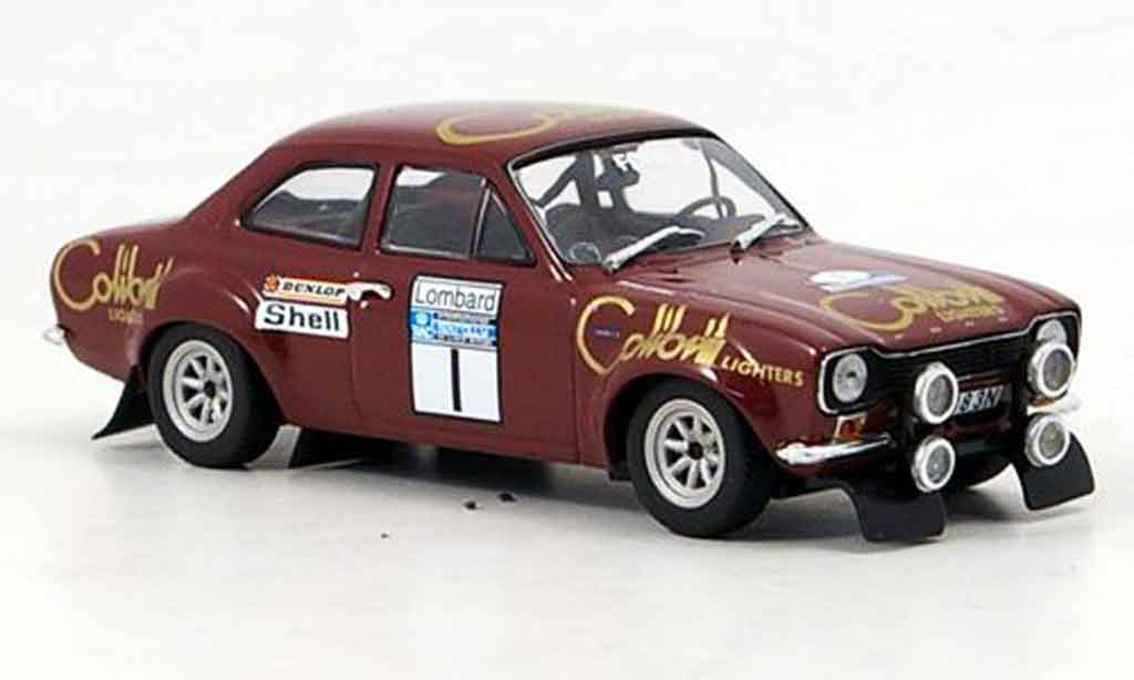 Ford Escort MK1 1/43 Minichamps I Makinen Liddon Sieger Rallye RAC 1974 miniature