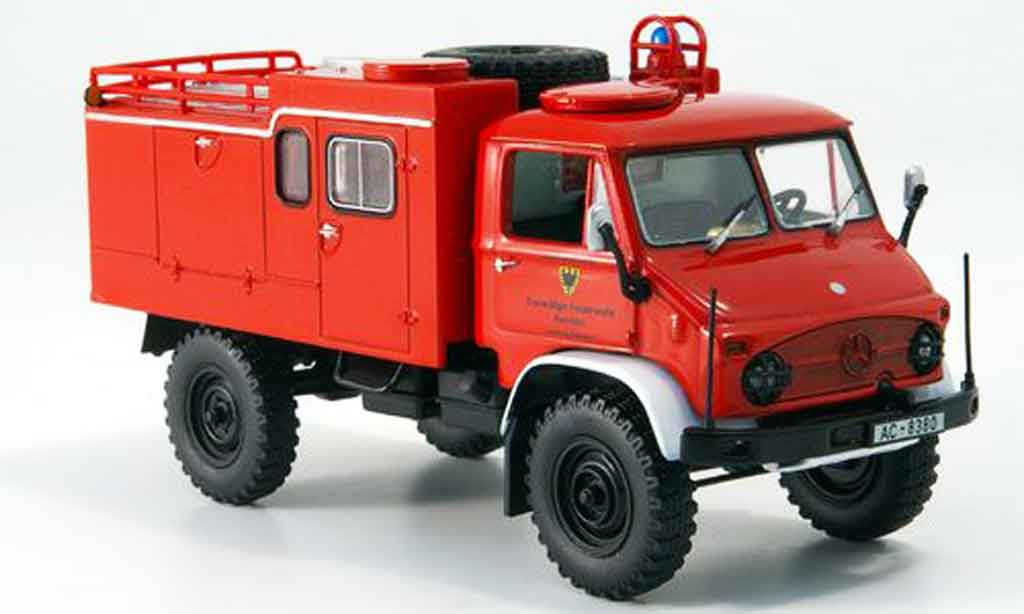 Mercedes Unimog 1/43 Minichamps 404S  pompier TLF 8 18 miniature