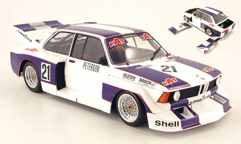 Bmw 320 E21 1/18 Minichamps i gr. 5 no.21 hat r.peterson drm 1977 diecast