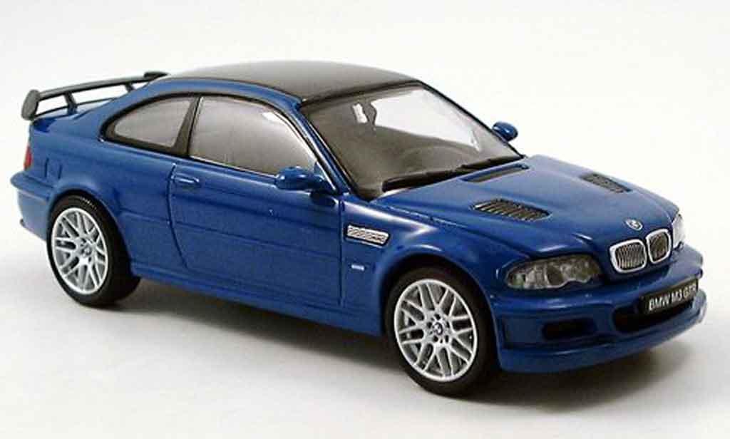 Bmw M3 E46 1/43 Kyosho GTR street bleu diecast model cars