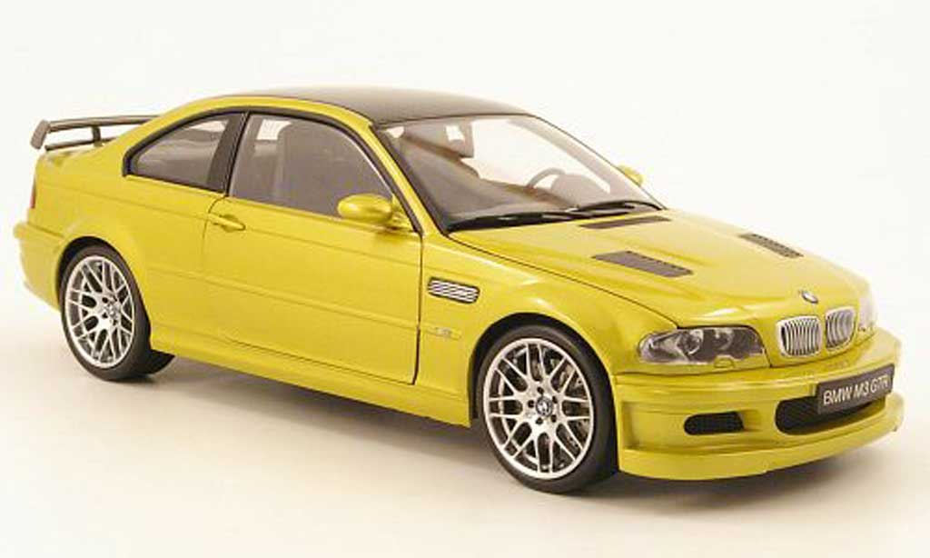 Bmw M3 E46 1/18 Kyosho gtr green yellow diecast