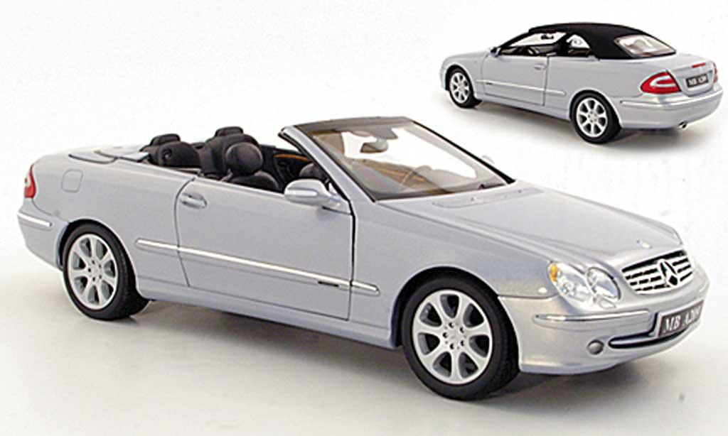 Mercedes Classe CLK 1/18 Kyosho Cabriolet grise metallisee 2003