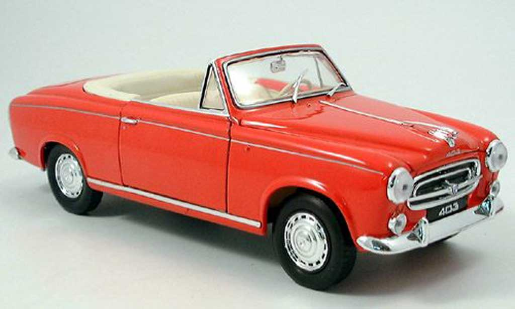 Peugeot 403 Cabriolet 1/18 Welly rouge 1957 miniature