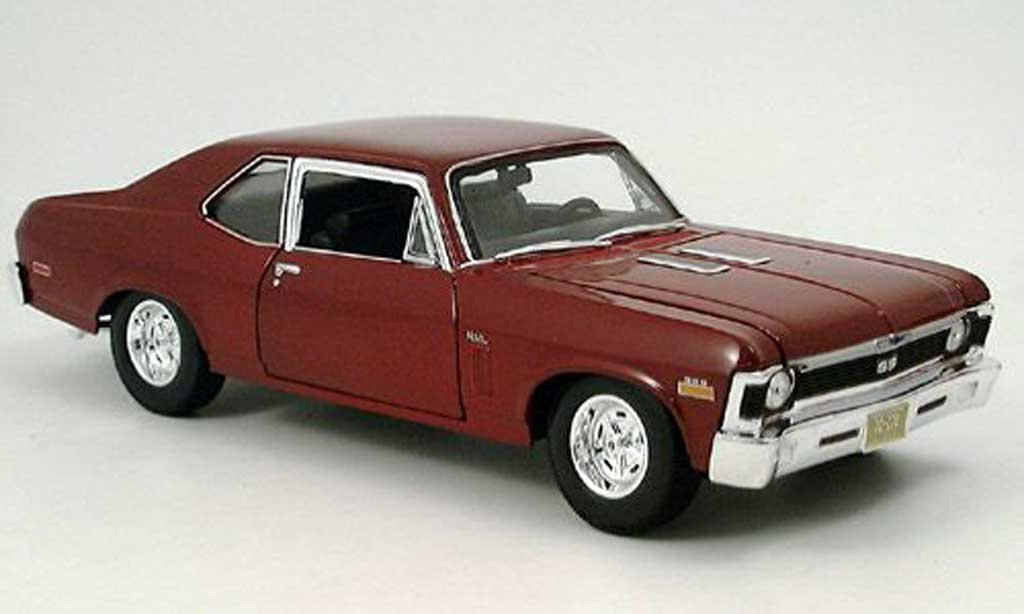 Chevrolet Nova 1970 1/18 Maisto ss coupe rouge miniature