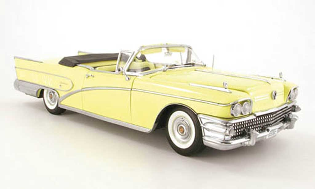 Buick Limited 1/18 Sun Star convertible jaune 1958 miniature