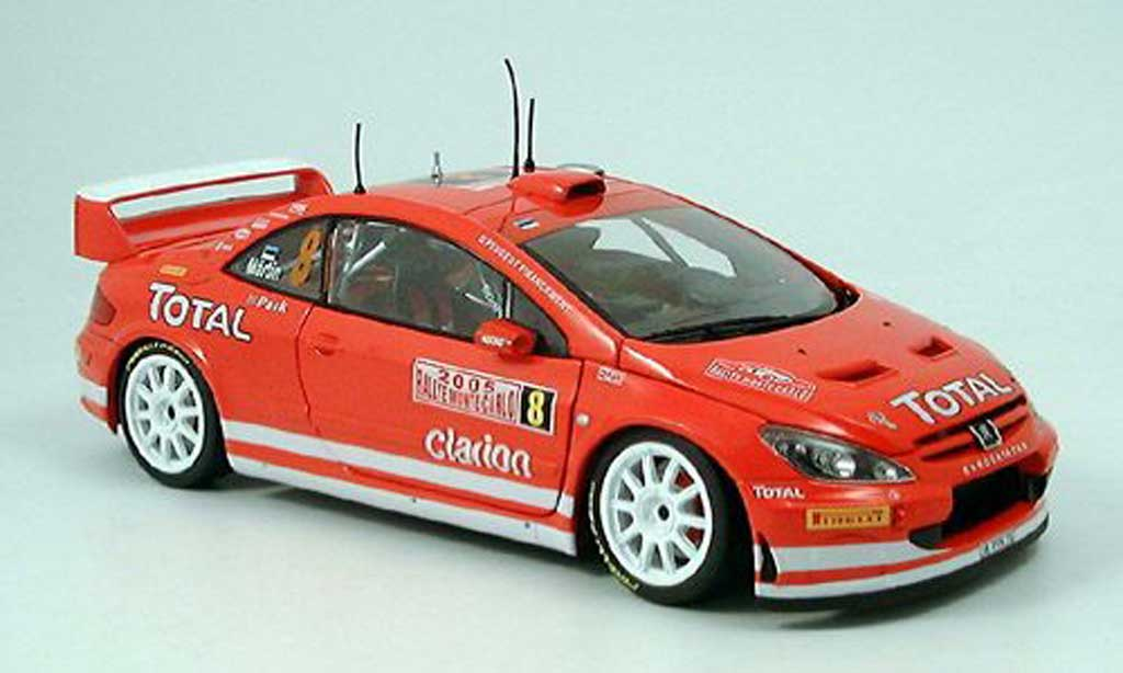 Peugeot 307 WRC 1/18 Sun Star no.8 toatl martin rallye monte carlo 2005 diecast