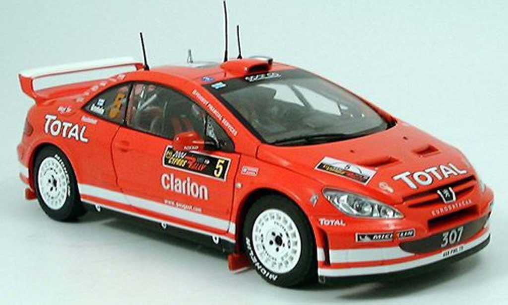 Peugeot 307 WRC 1/18 Sun Star no.5 total rallye chypre 2004 diecast