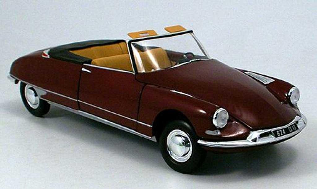 Citroen DS 19 1/43 Norev cabriolet noire-rouge  miniature