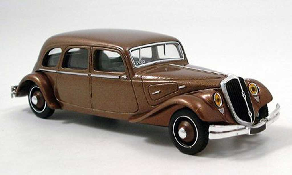 Citroen Traction 22 1/43 Norev CV Traction Familiale brun  miniature
