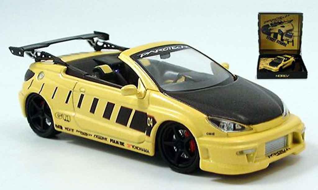 Peugeot 206 CC 1/43 Norev parougeech jaune noire miniature