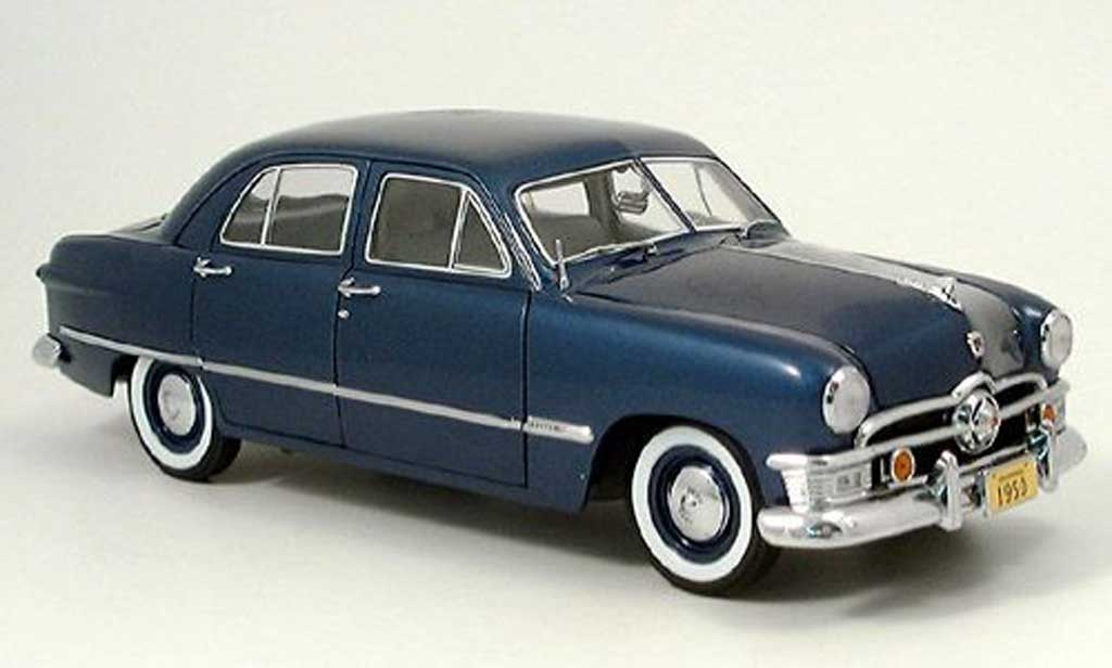 Ford Custom 1950 1/18 Precision 4-portes bleu miniature