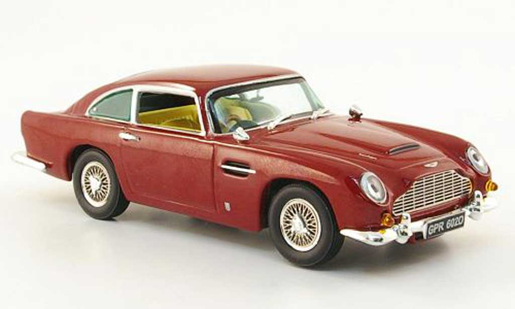 Aston Martin DB5 1/43 Vitesse rouge RHD beiges Interieur miniature