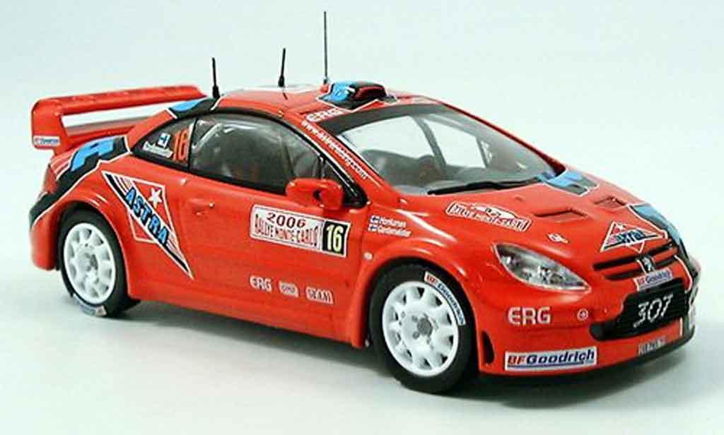 Peugeot 307 WRC 1/43 IXO no.16 gardemeister rallye monte carlo 2006 miniature