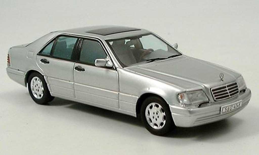 Mercedes Classe S 500 1/43 Spark (W140) grise  miniature