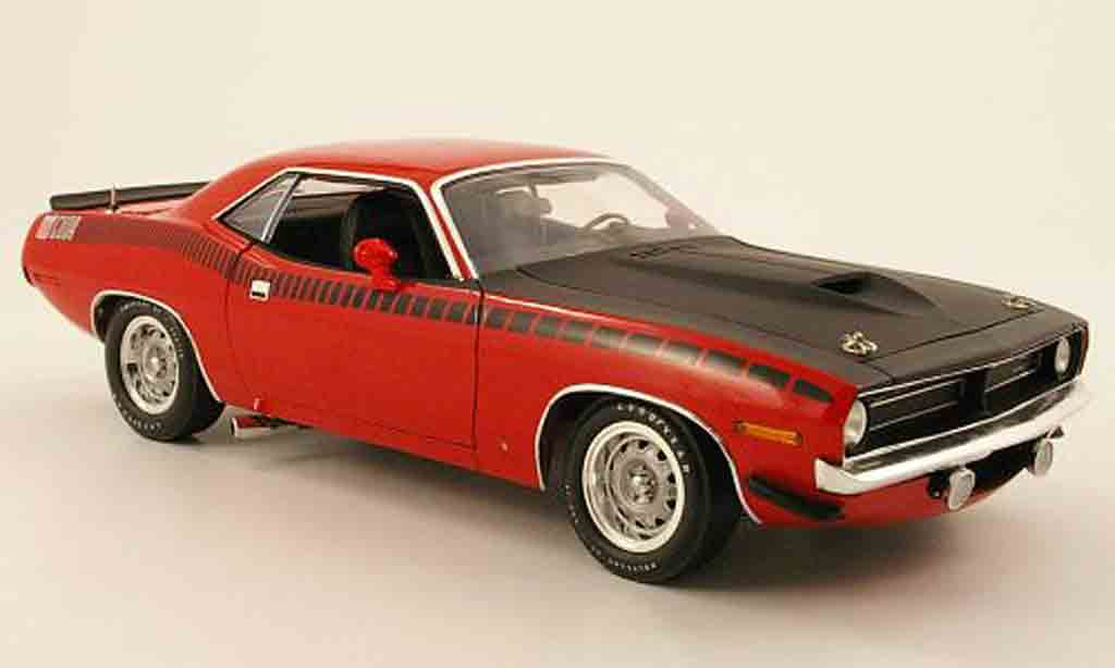 Plymouth Cuda 1970 1/18 Highway 61 aar rouge/matt noir miniature