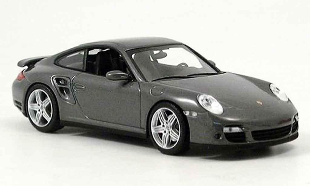 Porsche 997 Turbo 1/43 Minichamps grise miniature