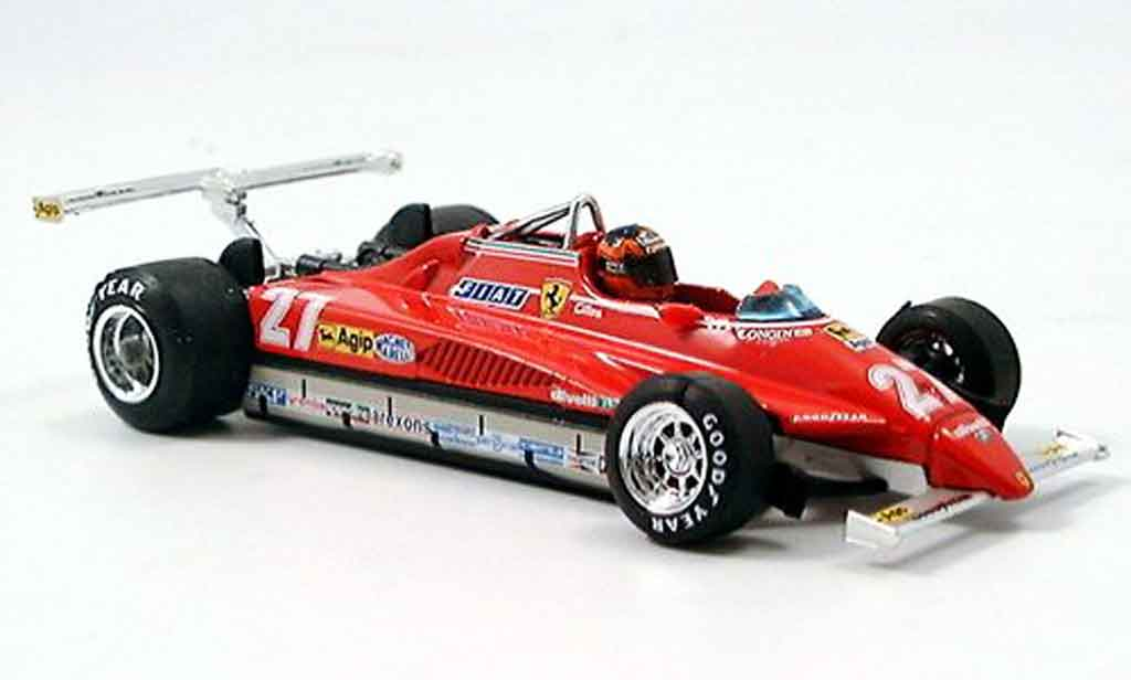 Ferrari 126 1982 1/43 Brumm C2 no.27 g.villeneuve long beach avec pilot miniature