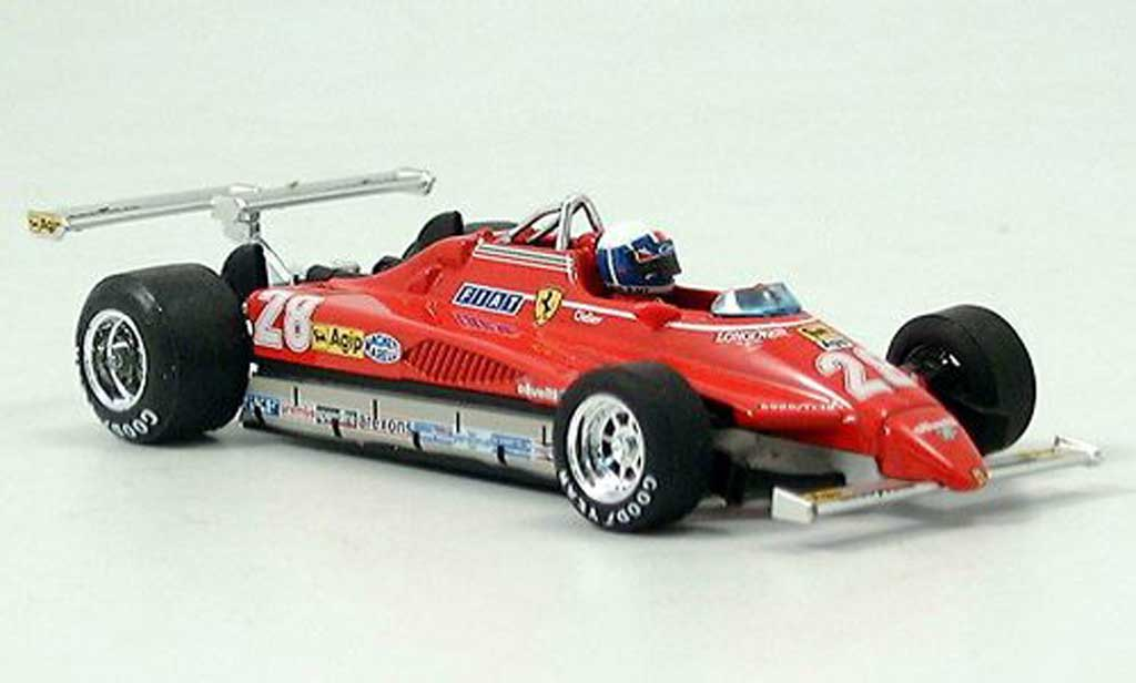 Ferrari 126 1982 1/43 Brumm C2 No.28 D.Pironi GP Long Beach avec Pilot diecast model cars