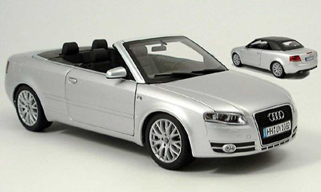 Audi A4 cabriolet 1/18 Norev grise 2006 miniature