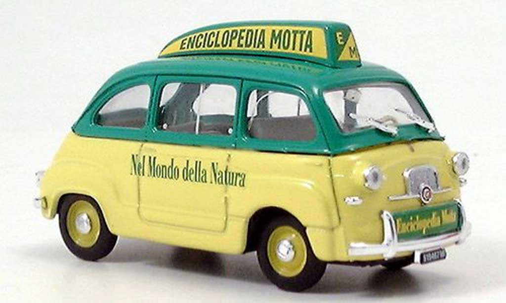 Fiat 600 1/43 Brumm Multipla Enciclopedia Motta jaune/gun  miniature