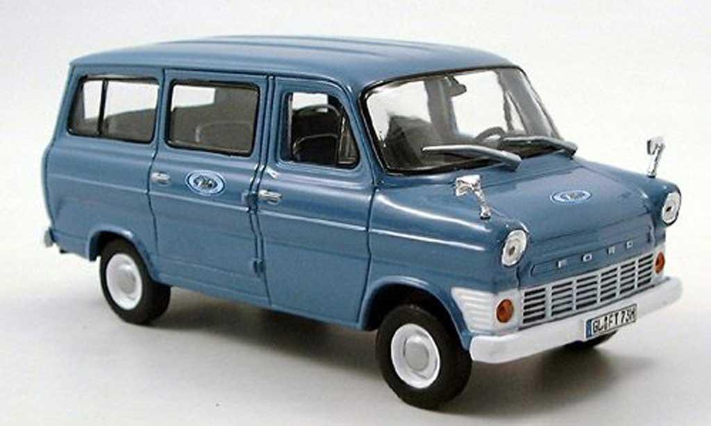 Ford Transit 1/43 Norev Bus bleu 1969 miniature