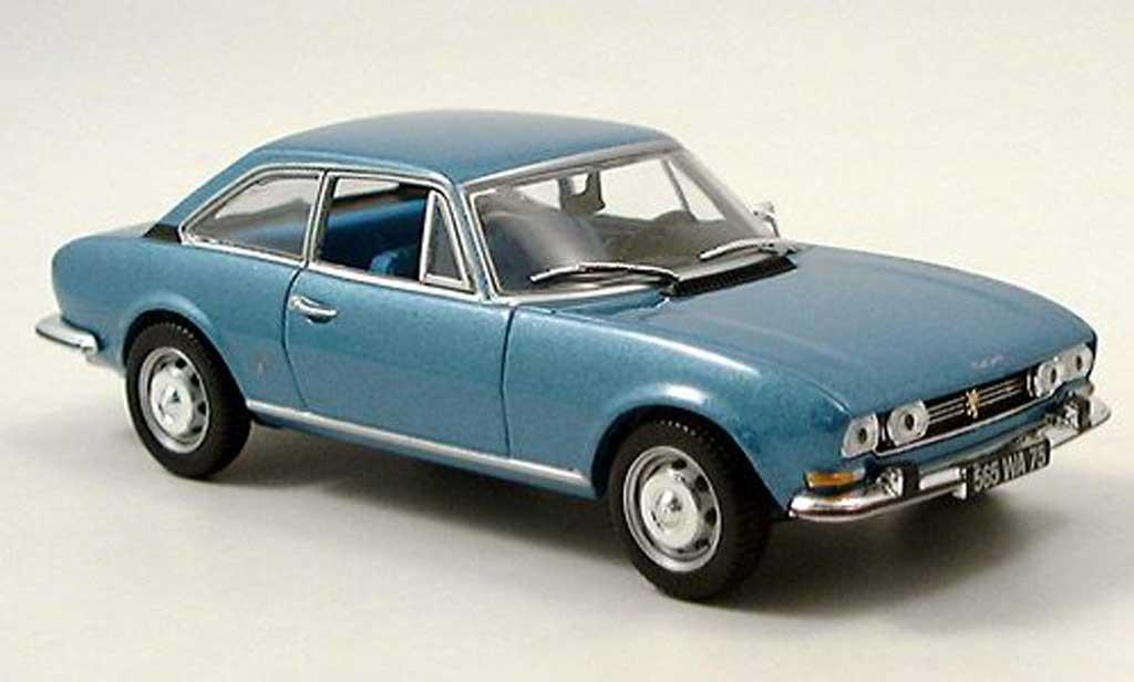 Peugeot 504 coupe 1/43 Norev bleu 1969 modellautos