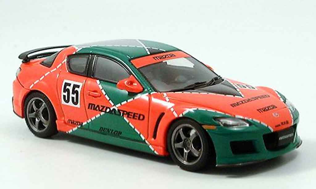 Mazda RX8 1/43 Autoart Speed RX 8 Le Mans livery green orange diecast